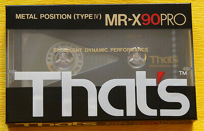 1x THAT's MR-X PRO 90 METAL Cassette Tape 1987 + OVP + SEALED +