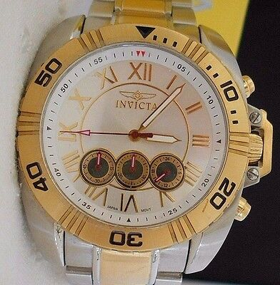 Mint Rare Men's INVICTA  S1 Tri Chronograph Quartz Watch and Box