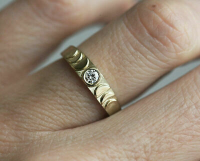 14k gold 1 tiny diamond pieces exquisite small fresh ladie engagement ring