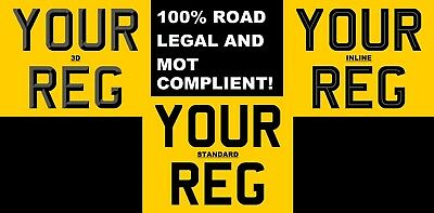 PREMIUM QUALITY MOTORCYCLE REAR BIKE NUMBER PLATE LEGAL 9x7 MOT COMPLIANT