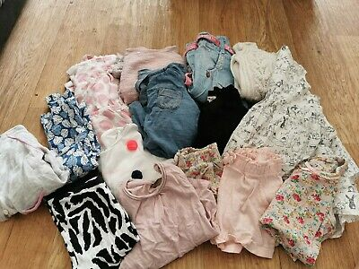 Large Bundle Of Girls Clothes Age 12-18 Months Next Zara H&M Etc Shorts Tops...