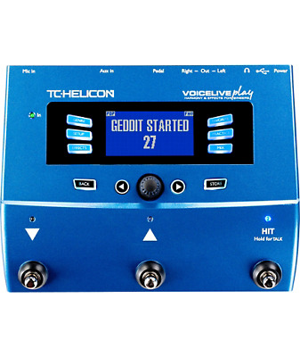 TC Helicon VoiceLive Play Vocal Harmony Reverb Delay Doubler Effects Processor