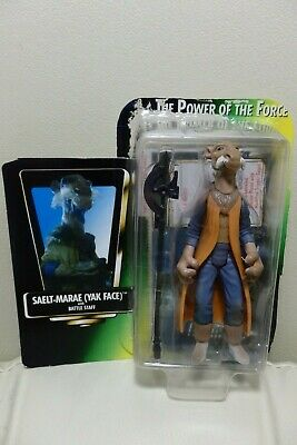 """Star Wars 3.75"""" Kenner The Power of the Force SAELT-MARAE (YAK FACE) como nuevo!"""