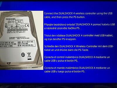 Sony Playstation4 Ps4 500Gb Hard Drive & System Software Update 6.72 Installed
