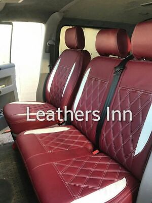 FORD TRANSIT CUSTOM L1 H1 2017 2018 2019 ARTIFICIAL LEATHER TAILORED SEAT COVERS