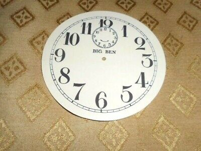 Round 'Big Ben' Paper Clock Dia l-103mm M/T-Arabic-GLOSS CREAM-Face/Parts/Spares