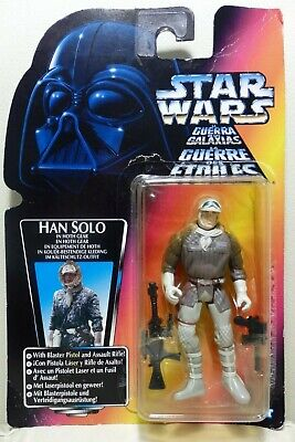 """Star Wars Kenner 3.75"""" The Power of the Force HAN SOLO in Hoth Gear ¡como nuevo!"""