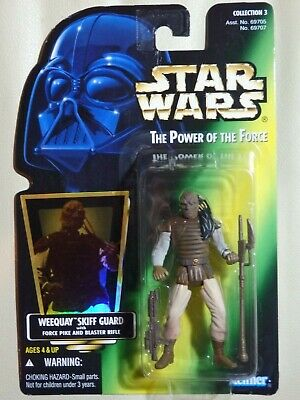 """Star Wars Kenner 3.75"""" The Power of the Force WEEQUAY SKIFF GUARD ¡nuevo!"""