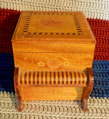 Rare Vintage Wooden Cigarette Dispenser Piano With Mechanical Duck