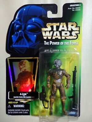 """Star Wars Kenner 3.75"""" The Power of the Force Bounty Hunter 4-LOM ¡nuevo!"""