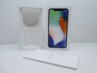 Apple iPhone X Verpackung OVP Leerkarton Space Gray Grau 256GB