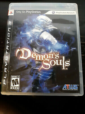 Demon's Souls (Sony PlayStation 3, 2009) Game, Case and Manual