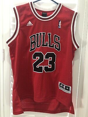 sports shoes eb281 2be76 MJ JORDAN #23 CHICAGO BULLS RED NBA Jersey ADULT KID AU ...