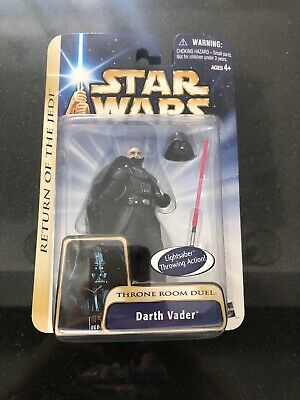 "rare Star Wars 2003 Darth Vader Throne Room Duel MOC 3.75/"" Figure $ stand base"