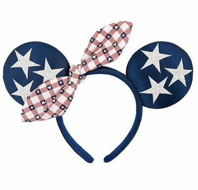Disney Parks Minnie Mouse Americana Ears Headband All American Girl