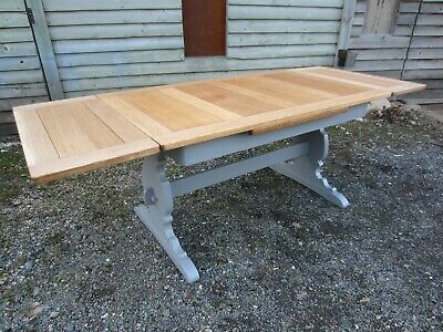 7ft Large Ercol Elm Extending Dining Table Painted Farrow & Ball Osmo Polyx Oil
