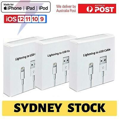 3x USB Lightning Charging Cable Data for Apple Charger iPhone iPad 6 8 7