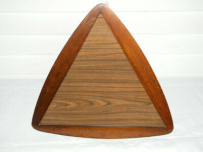 VINTAGE MID CENTURY 1950's DANISH MODERN LOBECO TRIANGLE STACKABLE SIDE TABLE