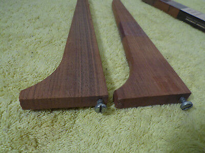 Vintage Walnut Wood Adjustable Shelf Brackets, Decorate New Old Stock (2) 6""