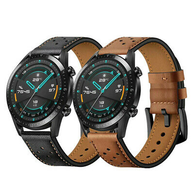 22mm Lug Premium Genuine Leather Watch Band Strap Bracelet For Huawei Watch GT