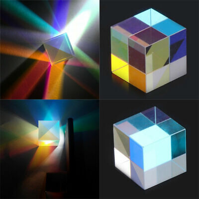 SG749 Optical Glass X-cube Dichroic Cube Prism RGB Combiner Splitter 23*23*23mm
