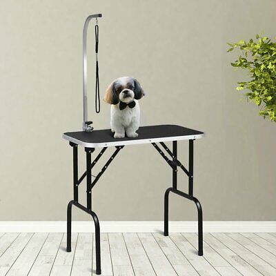 32 Adjustable Folding Pet Dog Grooming Table With Arm and Noose'
