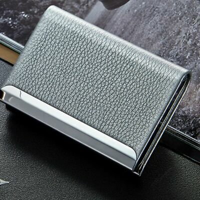 Waterproof  PU Leather Business Credit Card Name Id Card Holder Case Wallet Box