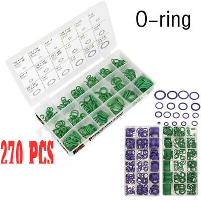 270 PC O Ring Seal Rubber Assortment 18 sizes Green Kit Hydraulics Air Gas Oil f