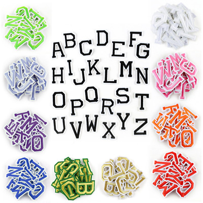 26PCS English Letters Embroidery Patches Applique Iron On Patch