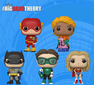 FUNKO POP Big Bang Theory SDCC 2019 Shared Exclusive Justice League PRE ORDER