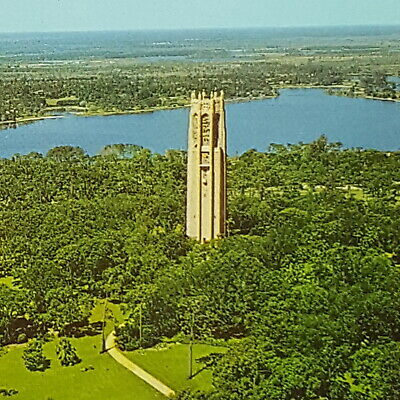 Vintage Postcard Singing Tower Mountain Lake Sanctuary Lake Wales Florida