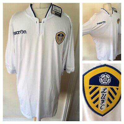 "Leeds United shirt / Top 14/15 Macron Size Xl Bnwts £43 Chest 46"" Classic Wb"