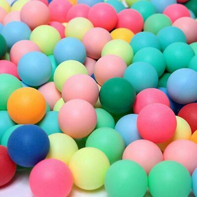 100Pcs Colored Ping Pong Balls Entertainment Table Tennis LOT Colors Ball M Y5U5