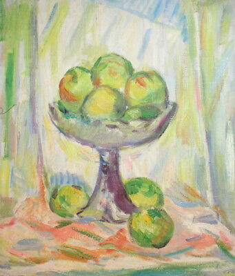 Still Life with apples vintage oil painting