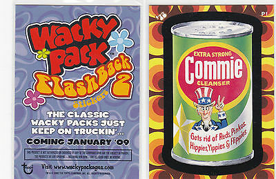 "2008 Wacky Packages Flashback Series 2 {FB2} ""COMMIE CLEANSER"" Promo Card P1"
