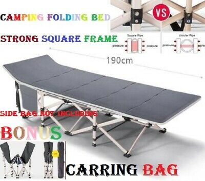 Portable Stretcher Single Foldable Folding Bed Mattress Recliner Camping Mat