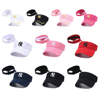 Women Men Unisex NY New York Yankees Visor Hat Sport Baseball Cap Sun Protection