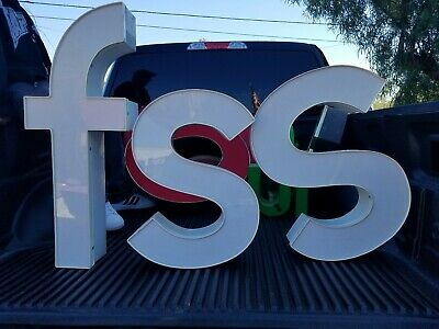 Channel Metal Sign Numbers letter FSS Commercial Industrial. FSS