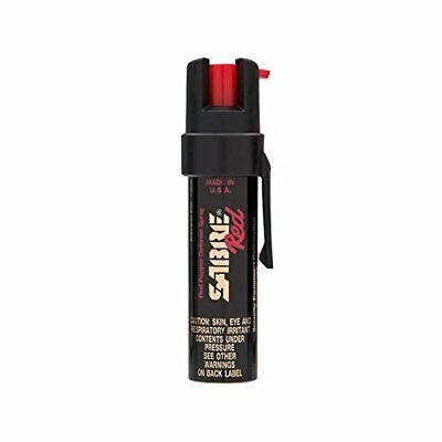 SABRE RED Compact Pepper Spray with Clip – Maximum Police Strength OC Spray for