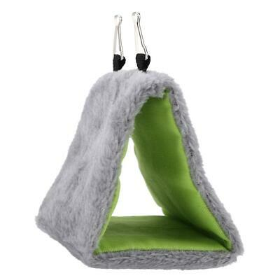 Sleep Bird Hut Toy Triangle Nest Pet Hammock Hang Cave Bed Parrot Tent Cage US