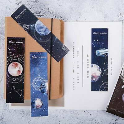 30pcs Planet Bookmarks Paper Page Notes Label Message Card Book School Supplies
