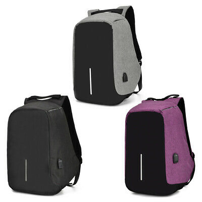 Anti Theft Waterproof Laptop Backpack USB Charging Travel Backpack School Bag