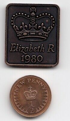 "1980 SHIELD & 1/2p "" PROOF "" Condition 1/2p  Extremely Nice 1/2p Coin    (1640)"
