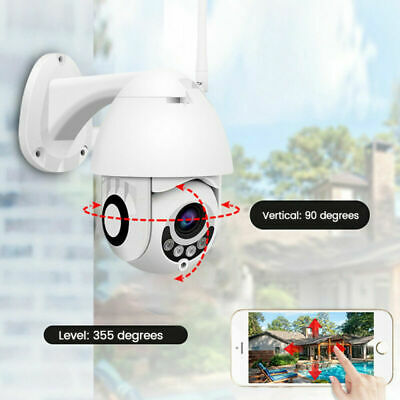 Telecamera IP Ptz Zoom 1080p Hd Full Color Camera Motorizzata Wifi 3.6mm furto