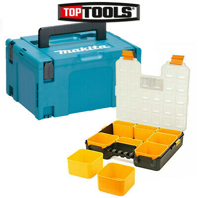 "Makita 821551-8 MakPac Type 3 Case With 12""/31cm Tool Organiser Box &Compartment"