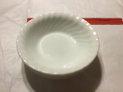 Corelle Enhancements Cereal Soup Bowls White with Swirl Edge  (4)
