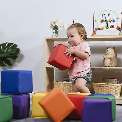 Baby Kids Large Soft Block Play Set Active Playroom Building Blocks 12pcs