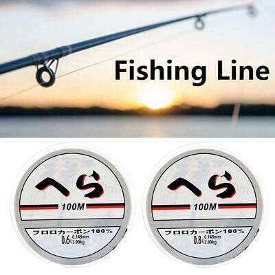Strong Fishing Line Japanese 100m Nylon Transparent Fluorocarbon Tackle Line New