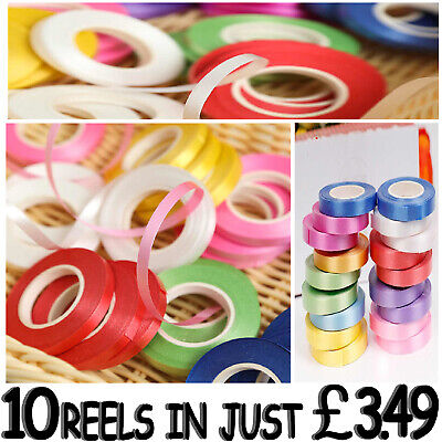 Pack Of 10 Reels Balloons Curling Plain Ribbon Best Price Ever