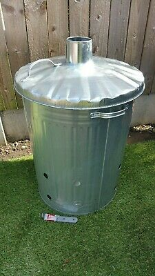 Garden Incinerator 80L Galvanized With Feet New